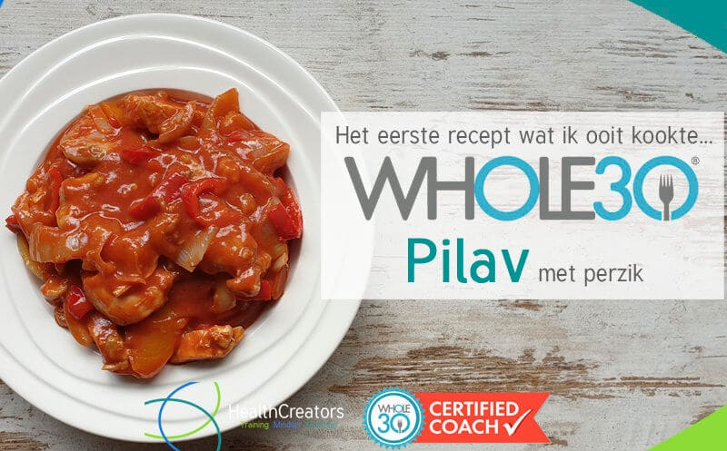 Whole30 Pilav met perzik